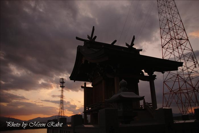 禎瑞乙女川・川狩り・龍神社・龍宮さんのまつ・中山川など 愛媛県西条市禎瑞下組 2009年10月10日