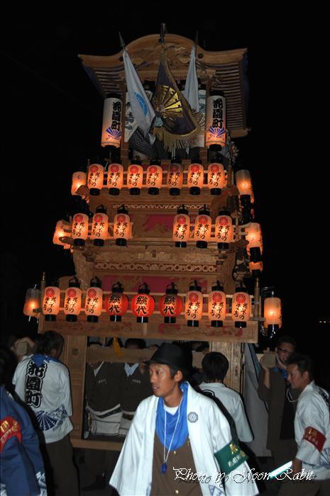 西条祭り2009 御所神社祭り 花園町だんじり(屋台) 愛媛県西条市古川 2009年10月11日
