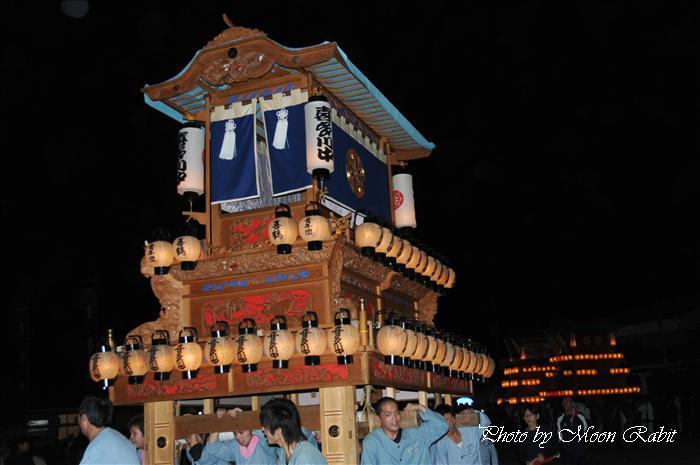 西条祭り2009 御所神社祭り 喜多川中だんじり(屋台) 愛媛県西条市古川 2009年10月11日