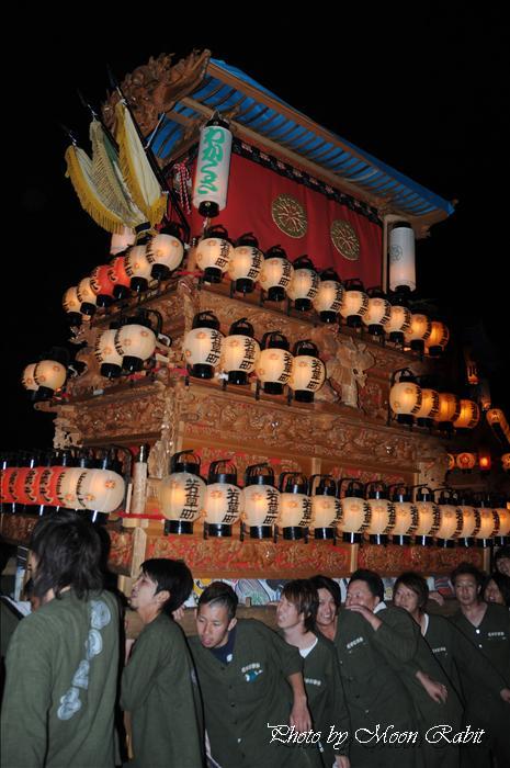 西条祭り2009 御所神社祭り 若草町だんじり(屋台) 愛媛県西条市古川 2009年10月11日