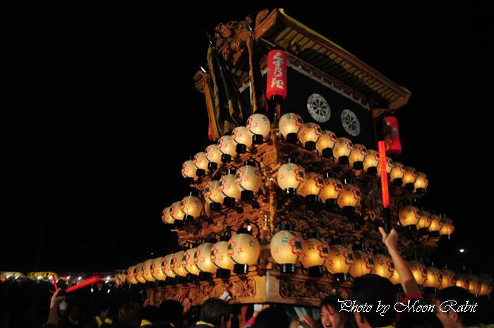 (西条祭り 2009 伊曽乃神社祭礼関係) お旅所 楠だんじり(屋台) 愛媛県西条市大南上 2009年10月16日