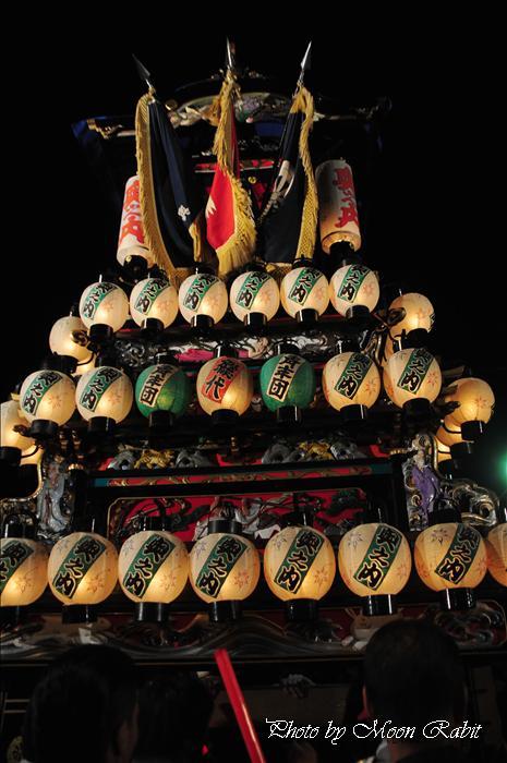 (西条祭り 2009 伊曽乃神社祭礼関係) お旅所 奥之内(おくのうち)だんじり(屋台) 愛媛県西条市大南上 2009年10月16日