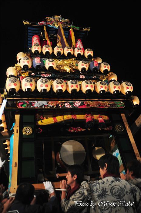 (西条祭り 2009 伊曽乃神社祭礼関係) お旅所 天皇だんじり(屋台) 愛媛県西条市大南上 2009年10月16日
