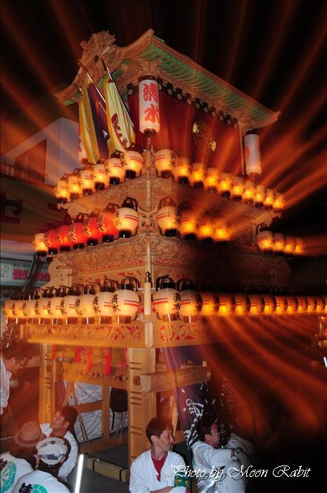 (西条祭り 2009 伊曽乃神社祭礼関係) お旅所 清水町だんじり(屋台) 愛媛県西条市大南上 2009年10月16日