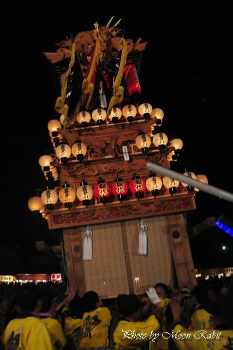 (西条祭り 2009 伊曽乃神社祭礼関係) お旅所 上喜多川だんじり(屋台) 愛媛県西条市大南上 2009年10月16日