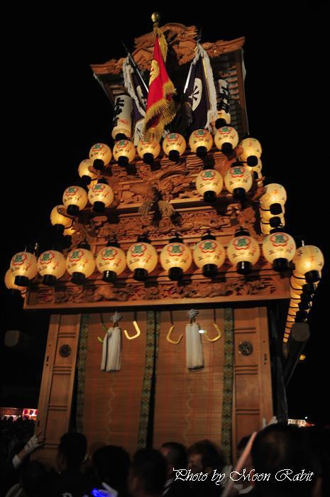 (西条祭り 2009 伊曽乃神社祭礼関係) お旅所 上神拝だんじり(屋台) 愛媛県西条市大南上 2009年10月16日
