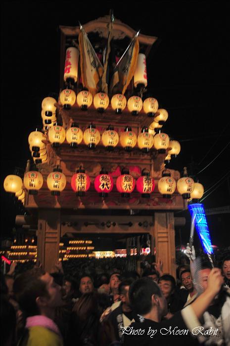 (西条祭り 2009 伊曽乃神社祭礼関係) お旅所 北町だんじり(屋台・楽車) 愛媛県西条市大南上 2009年10月16日