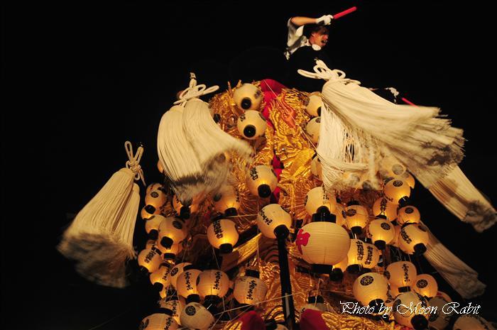 (西条祭り 2009 伊曽乃神社祭礼関係) お旅所 中西みこし(御輿) 愛媛県西条市大南上 2009年10月16日