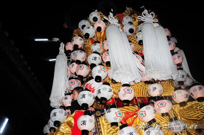 (西条祭り 伊曽乃神社祭礼関係) 西条祭り後夜祭 北浜みこし(喜多浜御輿) 御殿前にて 愛媛県西条市明屋敷 2009年10月16日