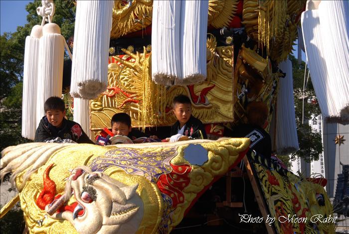 (西条祭り 2009 伊曽乃神社祭礼関係) 御殿前 北浜みこし(喜多浜御輿) 西条祭り 愛媛県西条市明屋敷 2009年10月16日
