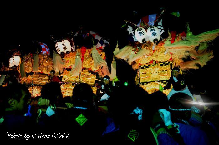 新居浜太鼓祭り2009 岸影太鼓台 M2大生院店中萩・大生院地区夜太鼓 愛媛県新居浜市大生院 2009年10月16日