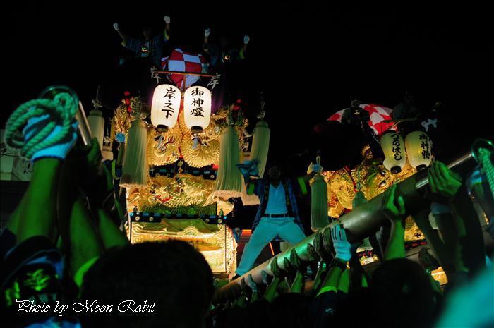 新居浜太鼓祭り2009 岸之下(岸の下)太鼓台 M2大生院店中萩・大生院地区夜太鼓 愛媛県新居浜市大生院 2009年10月16日