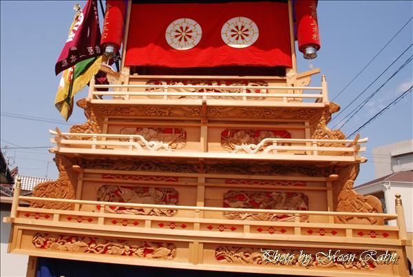 西条市の祭り 吉原稲荷大明神(神社)大祭での吉原三本松だんじり(屋台) 西条市吉原 2010年5月16日