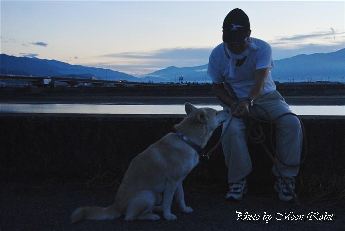 西条市の風景 新中山川橋付近の夕景色 愛媛県西条市禎瑞 2010年8月30日