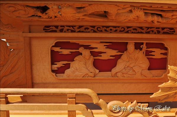 西条祭り2010 西町だんじり(屋台・楽車)の胴板彫刻など 氷見石岡神社祭礼関係 2010年9月26日
