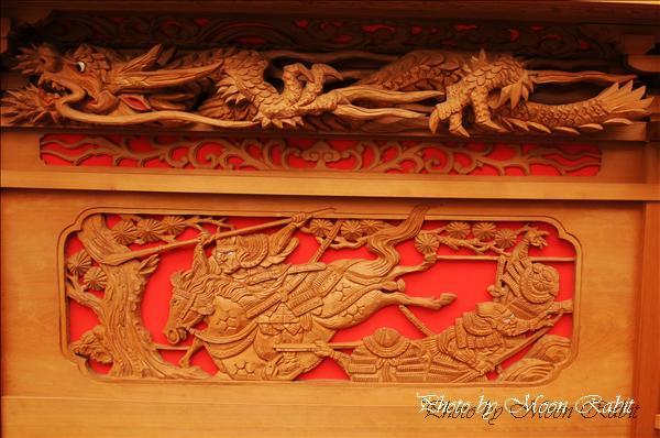 西条祭り2010 新御堂だんじり(志美登屋台・楽車)の胴板彫刻など 氷見石岡神社祭礼関係 2010年9月26日