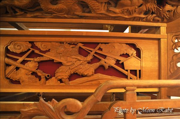 西条祭り2010 洲之内だんじり(屋台・楽車)の胴板彫刻など 伊曽乃神社祭礼関係 2010年9月26日