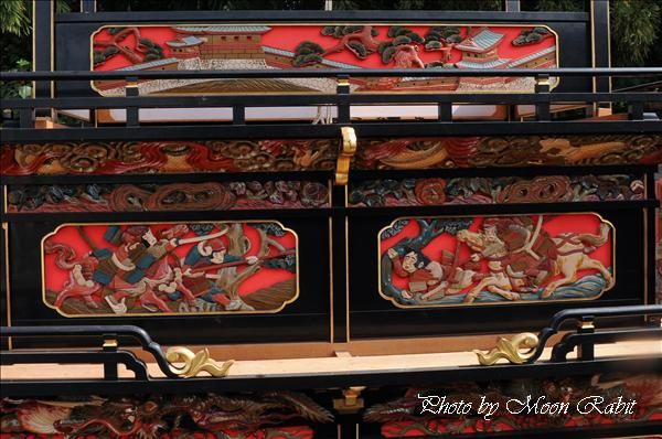 西条祭り2010 裏組だんじり(屋台・楽車)の胴板彫刻など 氷見石岡神社祭礼関係 2010年9月26日