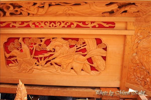 西条祭り2010 上喜多川だんじり(屋台・楽車)の胴板彫刻など 伊曽乃神社祭礼関係 2010年10月3日