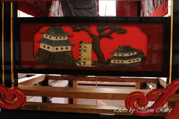 西条祭り2010 新町だんじり(屋台・楽車)の胴板彫刻など 氷見石岡神社祭礼関係 2010年10月3日