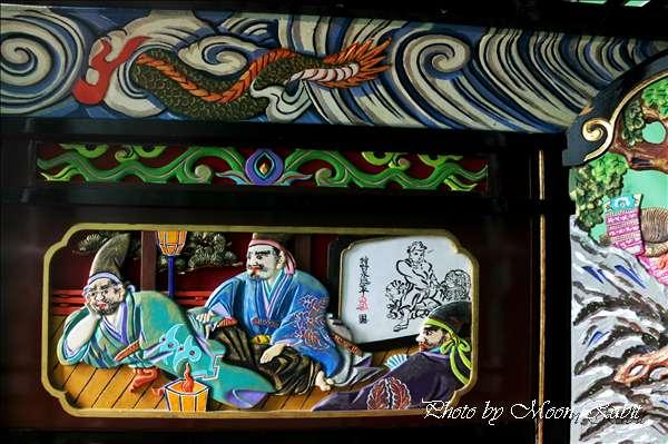 西条祭り2010 砂盛町だんじり(屋台・楽車)の胴板彫刻など 伊曽乃神社祭礼関係 2010年10月10日