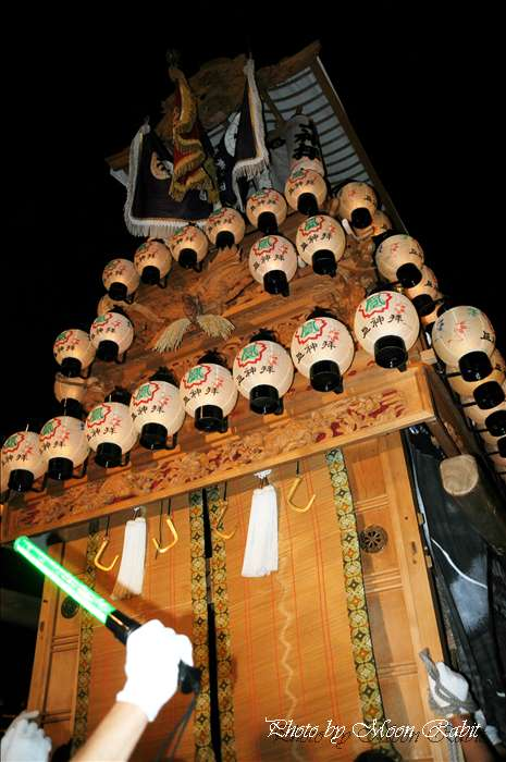 (西条祭り 2010 伊曽乃神社祭礼関係) お旅所 上神拝だんじり(屋台) 愛媛県西条市大南上 2010年10月16日