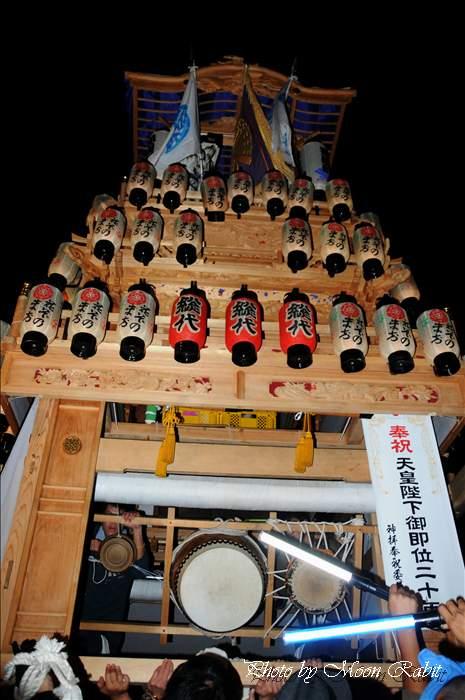 (西条祭り 2010 伊曽乃神社祭礼関係) お旅所 花園町だんじり(屋台・楽車) 愛媛県西条市大南上 2010年10月16日
