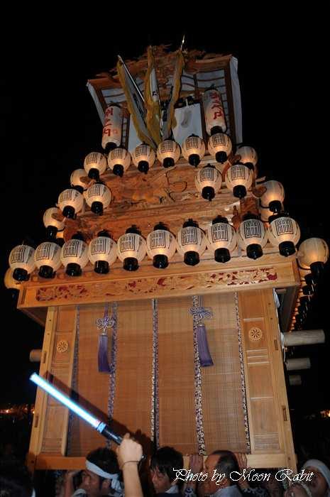 (西条祭り 2010 伊曽乃神社祭礼関係) お旅所 洲之内だんじり(屋台) 愛媛県西条市大南上 2010年10月16日