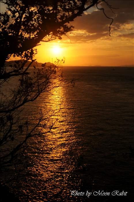 今治市の夕景色 大角海浜公園の夕焼け 愛媛県波方町波方乙893-1 2010年11月26日