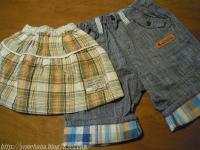 スカート&パンツ。