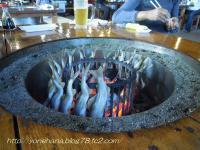 アユの炉端焼き。
