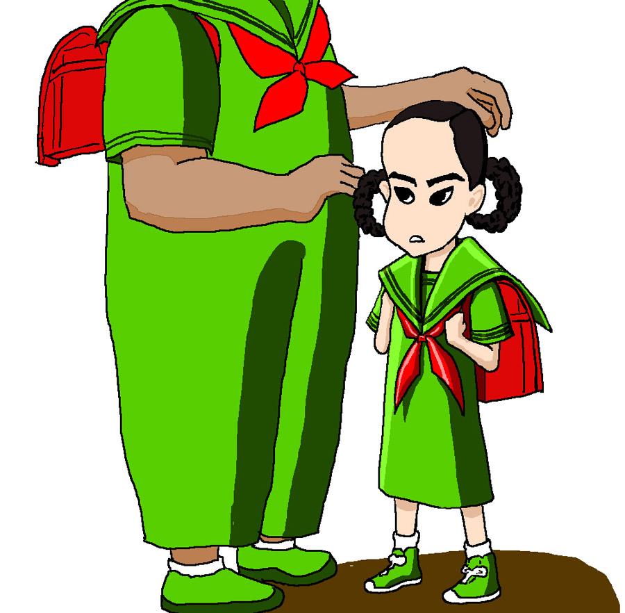 白坂奈々 響 長友光弘 セーラー服 小学生 ランドセル 女児