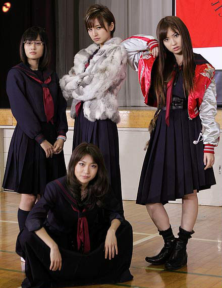 AKB48 マジすか学園 セーラー服 赤線 赤スカーフ