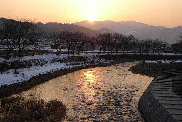 飛騨高山 冬景色 日之本元極 気功教室