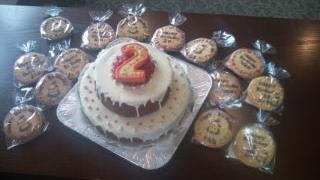 Halu2歳BDパーティのケーキ