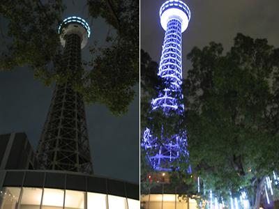 横浜マリンタワー 点灯式
