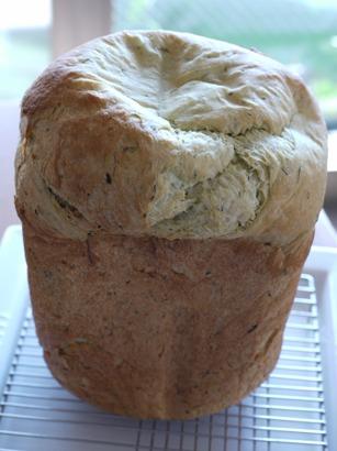 ふんわりもっちり☆春菊のクリームチーズ入り食パン☆