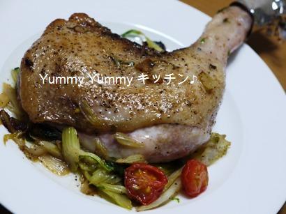 鶏モモ肉のマリネソテー☆セロリトマトソース♪