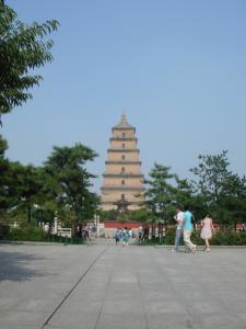 初日の大雁塔