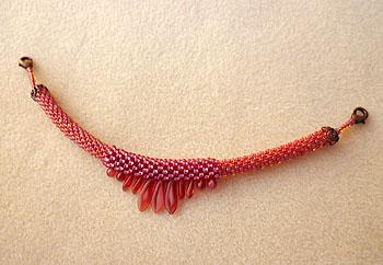 タガーの羽織紐赤1