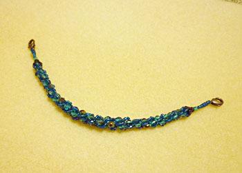 ブルーのペレンクロシェの羽織紐1