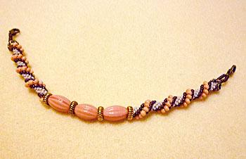 ピンクアーモンドチョコ羽織紐1