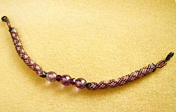 紫チェック柄羽織紐
