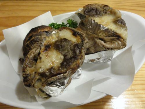 バイ貝カニ味噌焼