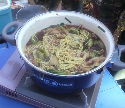 2010年10月11日然別峡オフ会食事12