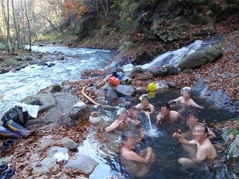 2010年10月11日然別峡オフ会テムジンの湯6