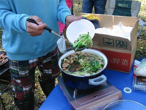 2010年10月11日然別峡オフ会食事11