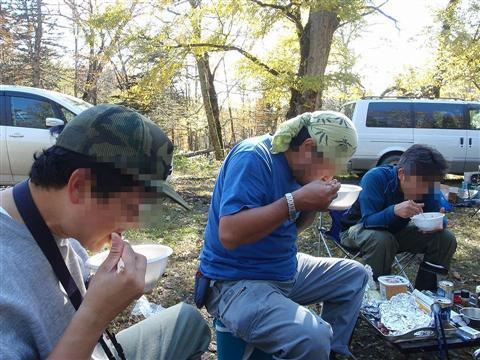 2010年10月11日然別峡オフ会食事5