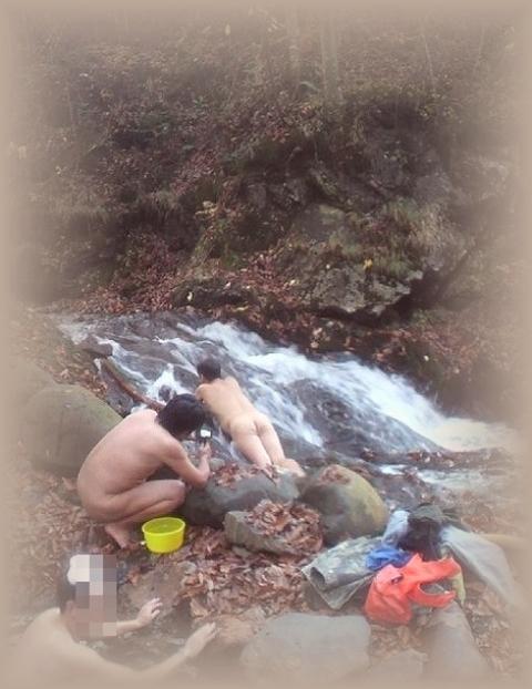 2010年10月11日然別峡オフ会テムジンの湯湯滝2