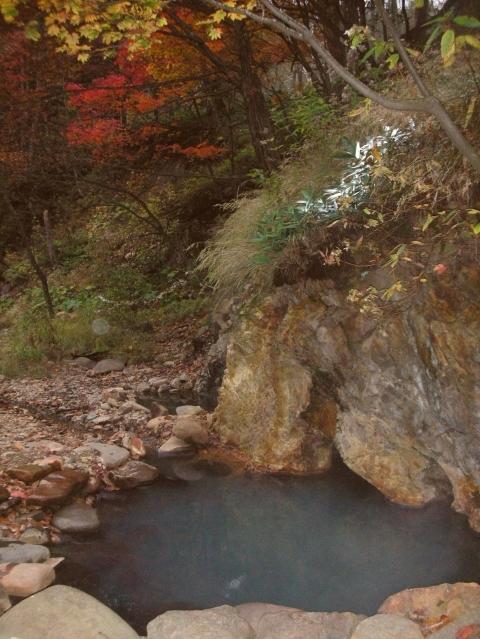 2010年10月9日然別峡野湯3